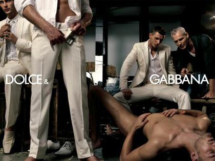 Dolce & Gabbana menswear ad, SS 2007.
