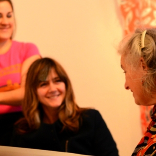 Emma Neuberg and Sarah Campbell in conversation at Slow Textiles Group event